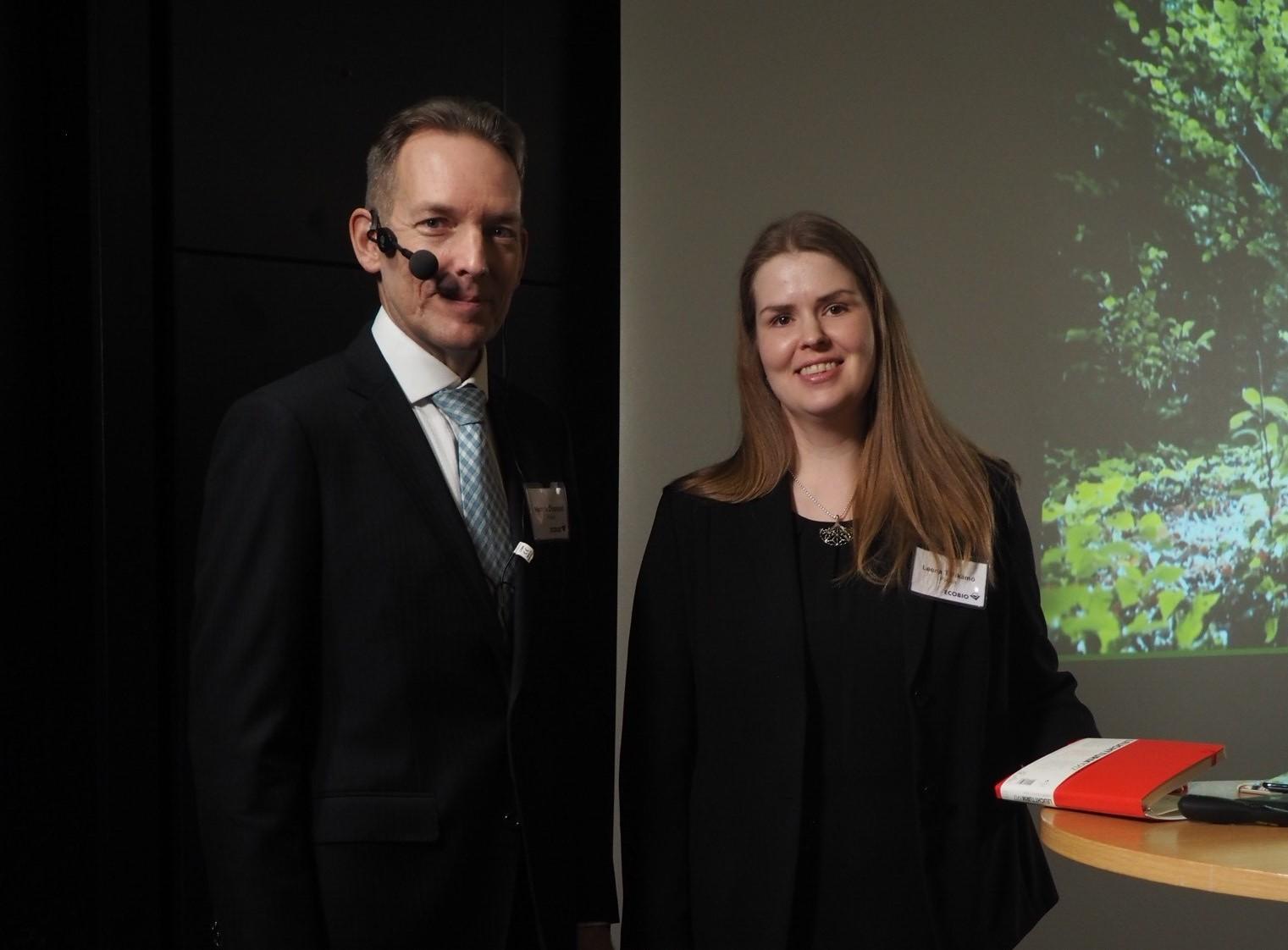 Ecobion asiantuntijat Henrik Österlund ja Leena Tähkämö