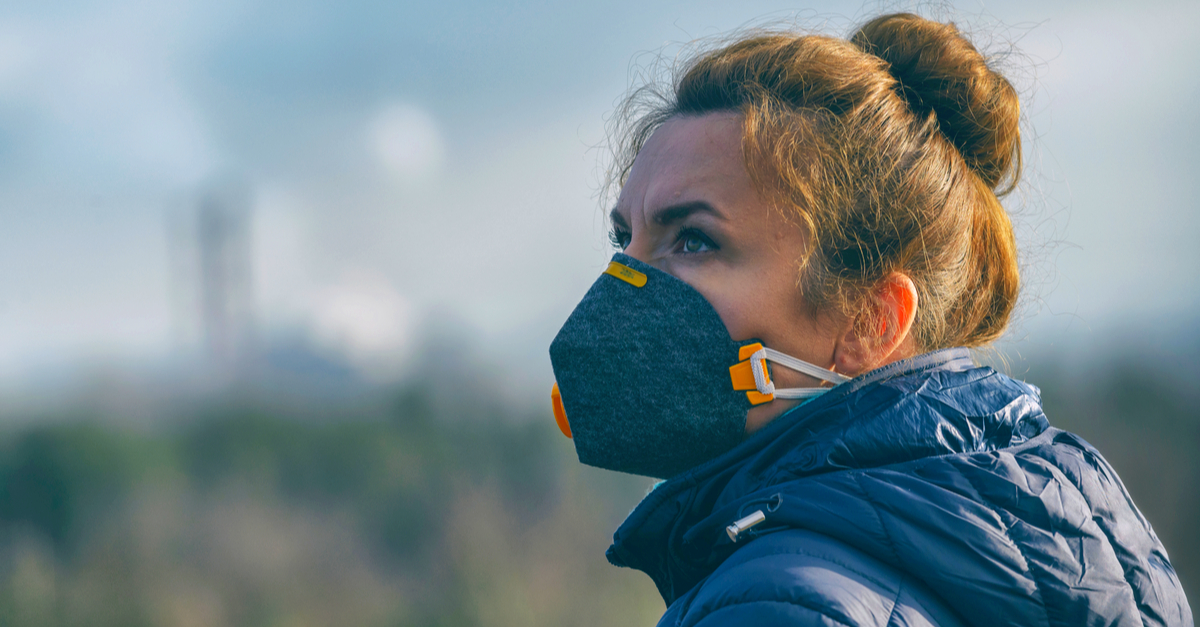 covid19 air pollution facemask
