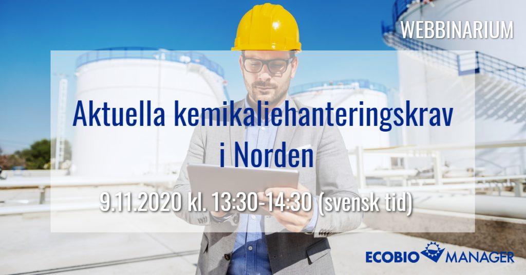 Aktuella kemikaliehanteringskrav i Norden
