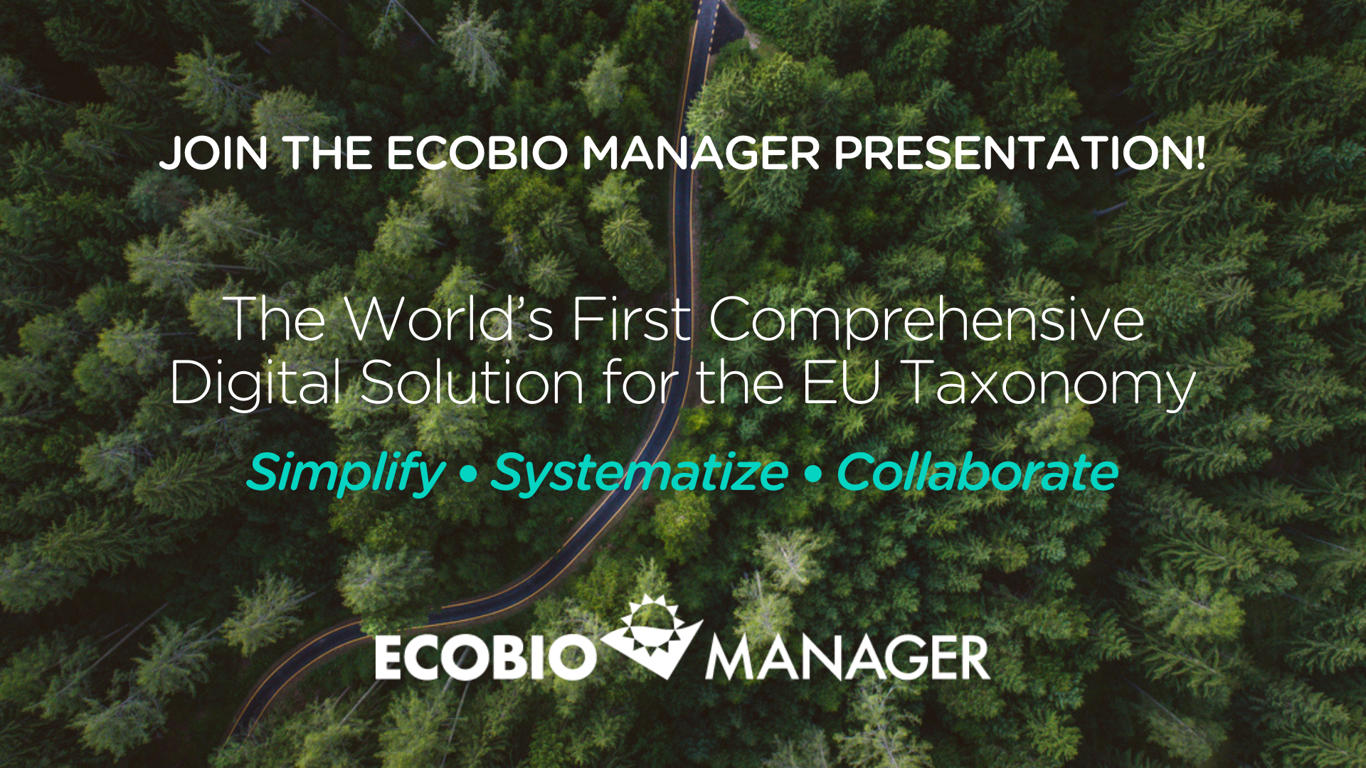 Join our presentation of the world's first comprehensive digital solution for the EU Taxonomy!
